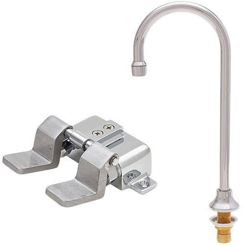 """Fisher 23248 12"""" Rigid Gooseneck Spout Base Deck Faucet"""