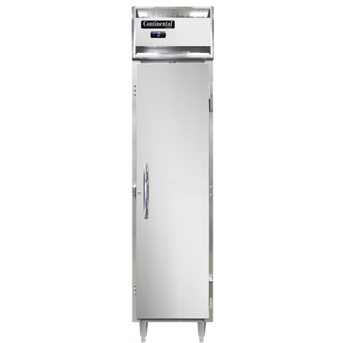 """Continental Refrigerator DL1FSE-SS-HD 17.75"""" W One-Section Solid Door Reach-In Freezer"""