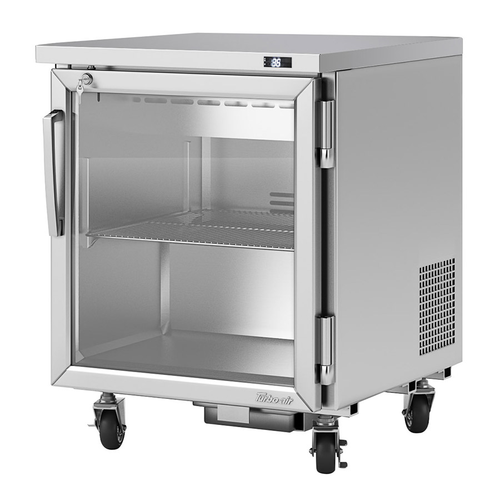 """Turbo Air PUR-28-G-N(-L) 27.5""""W One-Section Glass Door Reach-In PRO Series Undercounter Refrigerator"""