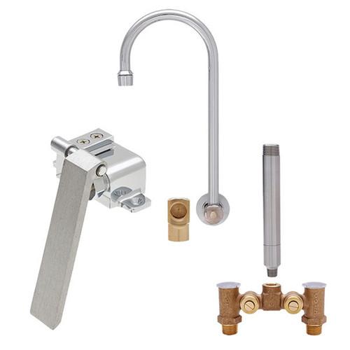 """Fisher 22934 6"""" Rigid Gooseneck Spout Backsplash Mount Faucet"""