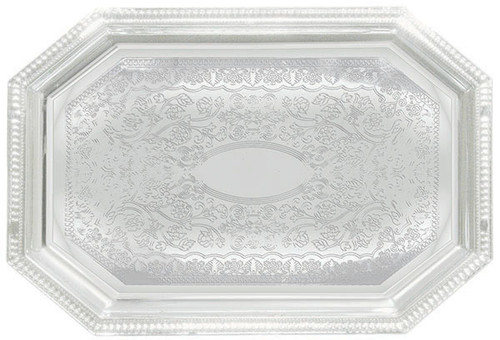 Winco CMT-1420  Chrome Plated  Octagonal  Serving Tray