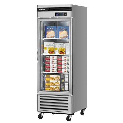 """Turbo Air TSF-23GSD-N 27"""" W One-Section Glass Door Reach-In Super Deluxe Display Freezer"""
