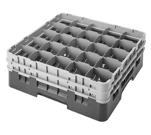 Cambro 25S534163 Camrack Glass Rack With (2) Soft Gray Extenders
