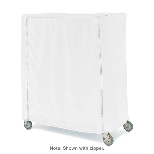 """Metro 21X48X62VUC Metro Cart Cover 48""""W Uncoated Knitted Polyester With Velcro Fastener White"""