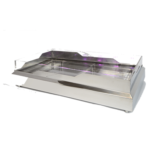 """Eastern Tabletop RB-3620 Rectangular Stainless Steel Seafood/Raw Bar 36 1/2""""L x 20 3/4""""W x 5""""H"""