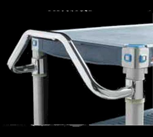 "Metro MERGH18S Easy-Grip Handle 18"" Ergonomic Design Fits 18""D Mobile Shelving Stainless Steel"