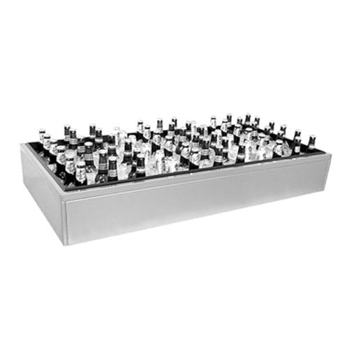 "Glastender IDU-18X60 Stainless Steel Ice Display Unit - 60""W x 18""D x 7""H"