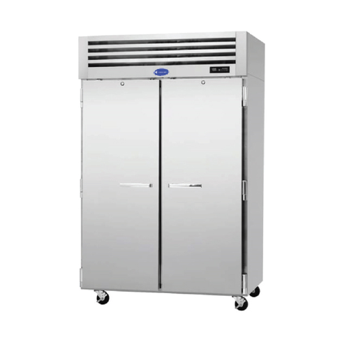"""Randell RS2R-52-2 51.75"""" W Two-Section Stainless Steel Door Reach-In Refrigerator"""