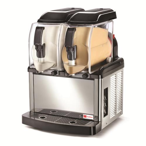 Grindmaster SP-2 (2) 1.3 Gallon Countertop Granita & Cold Cream Dispenser - 115 Volts