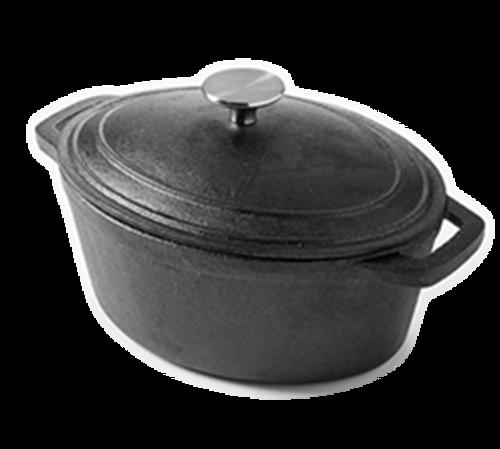 American Metalcraft CIPO3 3 Qt Cast Iron Oval Casserole Dish