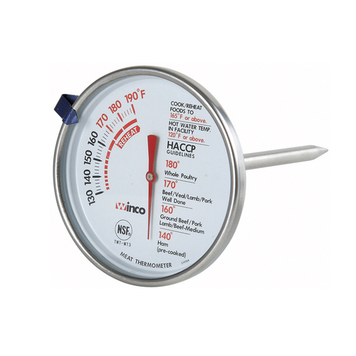 """Winco TMT-MT3 5"""" Meat Thermometer"""