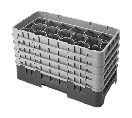 Cambro 17HS958151 Camrack Glass Rack With (5) Soft Gray Extenders