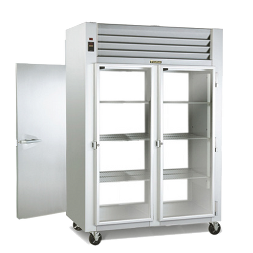 """Traulsen G26055-032 52.13""""W Two-Section Solid Door Dealer's Choice Refrigerator"""