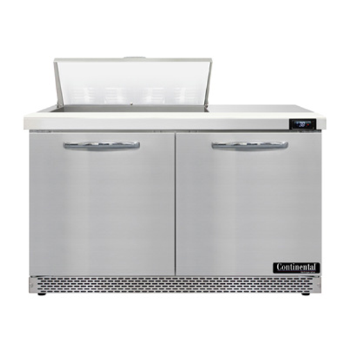 """Continental Refrigerator SW48N8-FB 48"""" W Two-Section Two Door Sandwich Unit"""