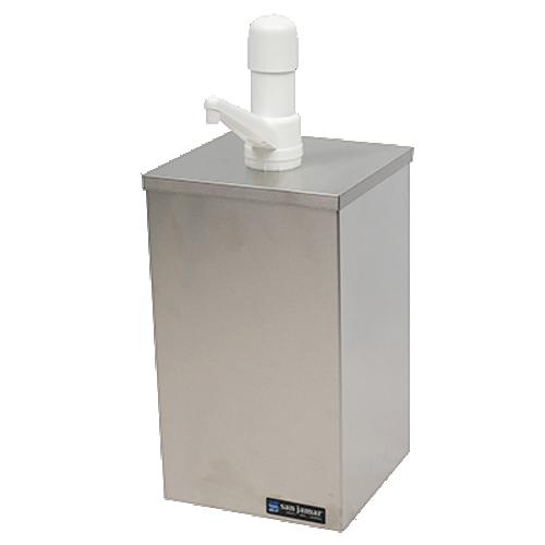 "San Jamar P9800 EZ-Chill Condiment Pump Box Countertop 7""W"