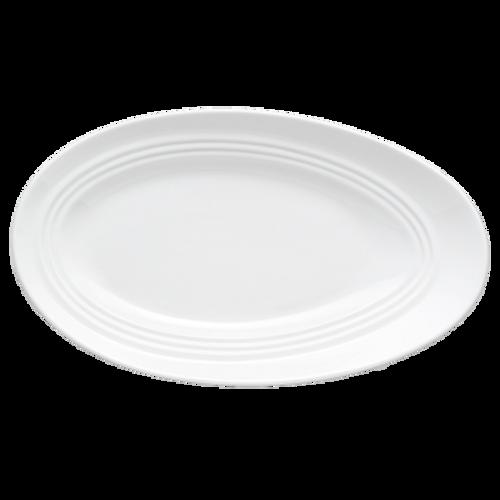 Bon Chef 1100008P  Porcelain  White  Oval  Plate