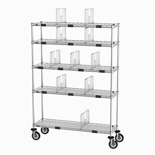 """Metro CR1448TGCOPS To-Go Order Pick-Up Station 69"""" Wire Take-Out Shelving Station"""