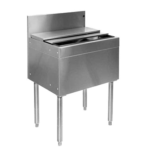 "Glastender IBA-30-CP10-ED Stainless Steel Extra Deep Underbar Ice Bin - 30""W x 19""D"