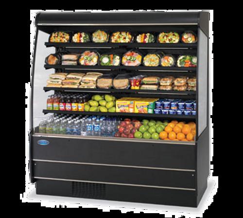 "Federal Industries RSSM678SC 71.25""W Specialty Display High Profile Self-Serve Refrigerated Dairy Merchandiser"