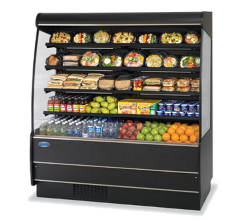 "Federal Industries RSSM678SC 71.25""W Specialty Display High Profile Self-Serve Refrigerated Dairy Merchandiser"