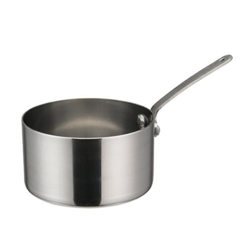 "Winco DCWA-104S  3-1/2""  10 Oz.  Stainless Steel  Round  Mini Sauce Pan  12 Each"