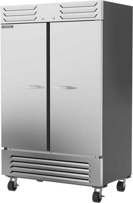 "Beverage Air SR2HC-1S 51.97"" W Two-Section Solid Door Reach-In Slate Series Refrigerator"