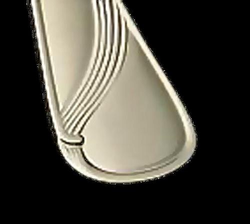 "Bon Chef S2212 9.83"" Stainless Steel Wave European Dinner Knife solid Handle - 1 Dozen/Package"