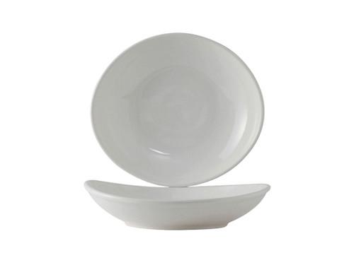 Tuxton BWB-105J  10-1/2 Oz.  Ceramic  White  Oval / Oblong  Bowl