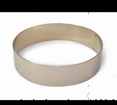 "Matfer Bourgeat 371803 6-1/4"" ID x 2-3/8""H Stainless Steel Round Ice Cream/Cake Ring"