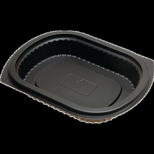 Dinex DXMW4016PBLK 16 oz Black Polypropylene Medium Oval Proex Disposable Entrée Platter