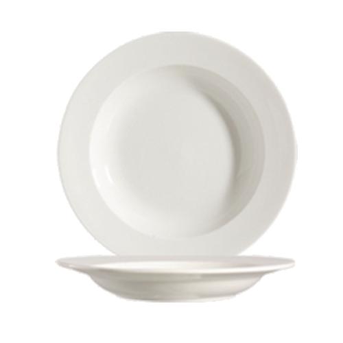 "CAC China 101-115  11-1/2""  24 oz  Porcelain  Bone White  Round  Lincoln Soup Plate"
