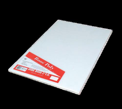 "John Boos P1093 24"" x 12"" x 1/2"" White Polyethylene Cutting Board"