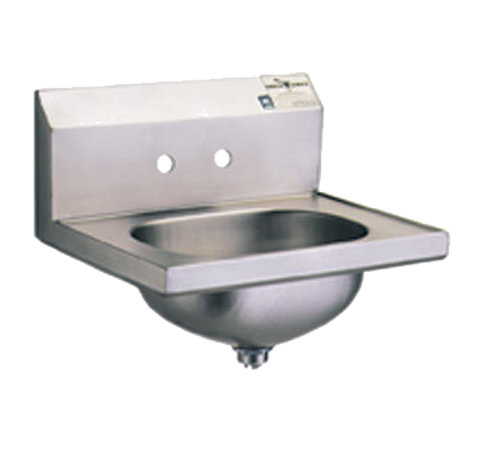 """Eagle Group HSA-10 Hand Sink Wall Mount 13-1/2""""W x 9-3/4"""" front-to-back x 6-3/4"""" Deep bowl"""