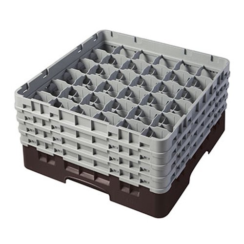 Cambro 36S800167 Camrack Glass Rack With (4) Soft Gray Extenders