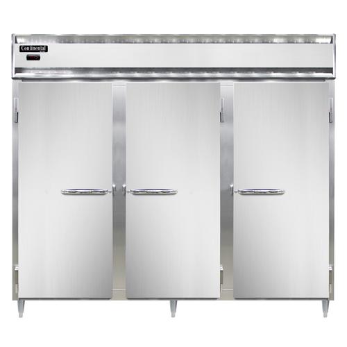 "Continental Refrigeration DL3WE-SS Designer Line Heated Cabinet Reach-In 85"""