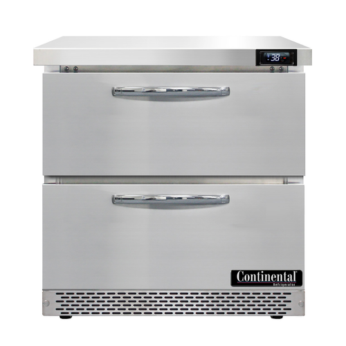 "Continental Refrigerator SW32N-FB-D 32""W One-Section Work Top Refrigerator"