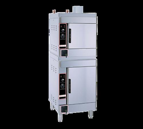 Market Forge SIRIUS II-10-NG (2) 4 & 6 Pan Natural Gas Convection Steamer - 52,000 BTU
