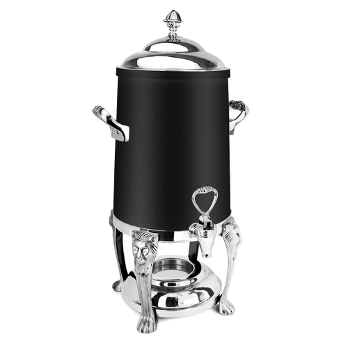 Eastern Tabletop 3201LHMB 1 1/2 Gal Black Finish Stainless Steel Lion Head Coffee Urn