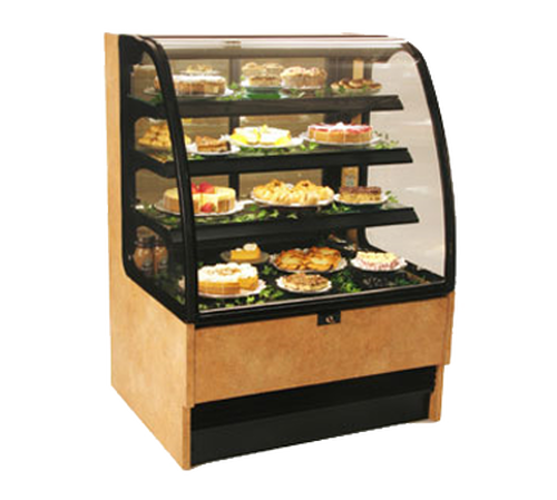 """Structural Concepts HMG5153R 50.75""""W Curved Glass Harmony Service Refrigerated Case"""