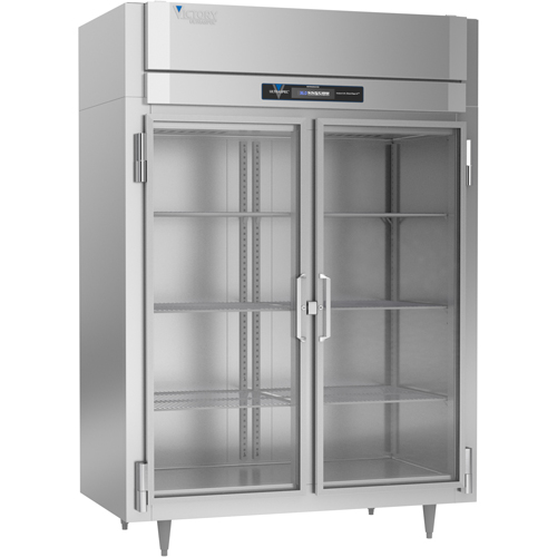 """Victory RS-2D-S1-GD 52.13"""" W Two-Section Two Door Reach-In UltraSpec™ Series Refrigerator Featuring Secure-Temp™ Technology"""
