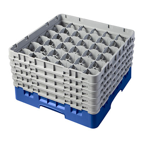 Cambro 36S958168 Camrack Glass Rack With (5) Soft Gray Extenders