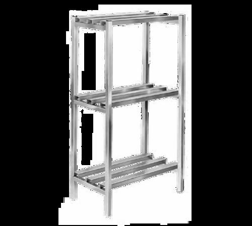 "Channel DR2054-4 Lifetime Tough Dunnage Shelving Unit 54""W 2500 Lbs. Capacity Welded Aluminum Construction"