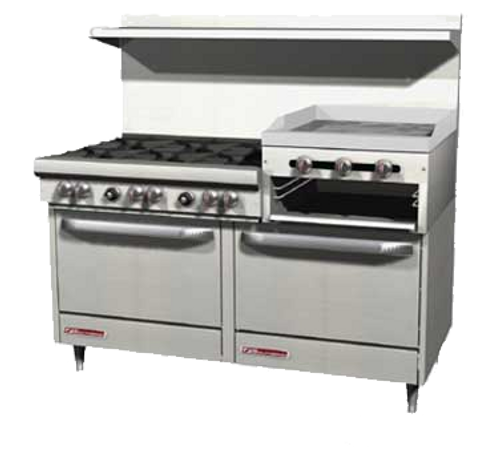 "Southbend 4605CC-2RR-NG 60"" Natural Gas Ultimate Restaurant Range - 204,000 BTU"