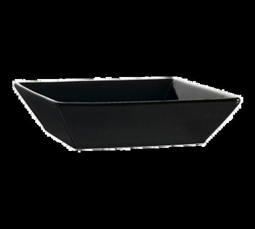 CAC China KC-B6-BLK  15 oz  Ceramic  Black  Square  Color Arts Bowl