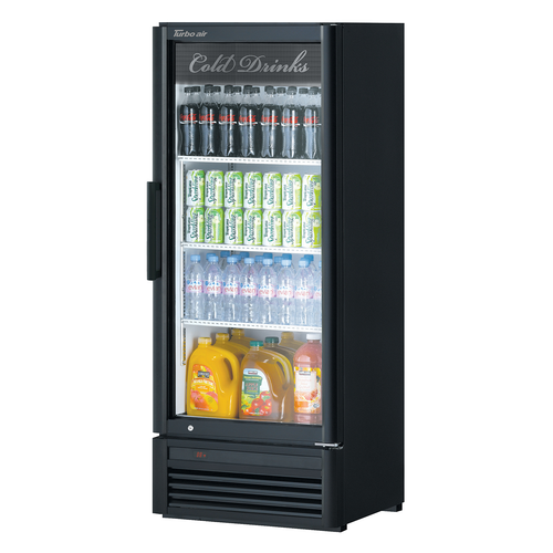 """Turbo Air TGM-12SD-N6 25.75"""" W One-Section Glass Door Super Deluxe Refrigerated Merchandiser"""
