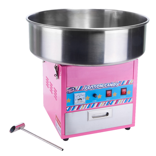 "Winco CCM-28 Showtime Cotton Candy Machine Makes 120 Cones Per Hour Includes: 20-1/2"" Dia. Stainless Steel Bowl With Locking Safety Clips"