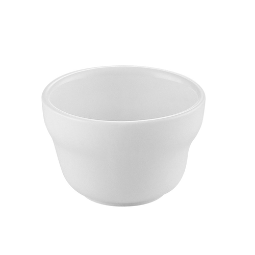 "CAC China UVS-4  4""  Porcelain  Super White  Round  Universal Bouillon Cup"