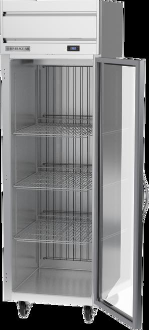 "Beverage Air HRS1HC-1G 26"" W One-Section Glass Door Reach-In Horizon Series Refrigerator"