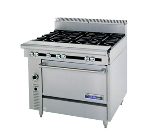 "Garland C0836-13L-NG 36"" Natural Gas Cuisine Series Heavy Duty Range - 145,000 BTU"