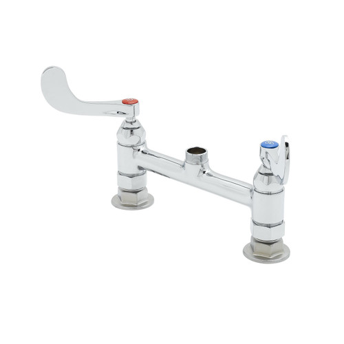 T&S Brass B-0220-LN-WH4 Mixing Faucet double deck mount 8""